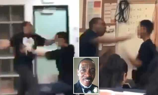Video: California Teacher Repeatedly Punches Student in Shocking Classroom