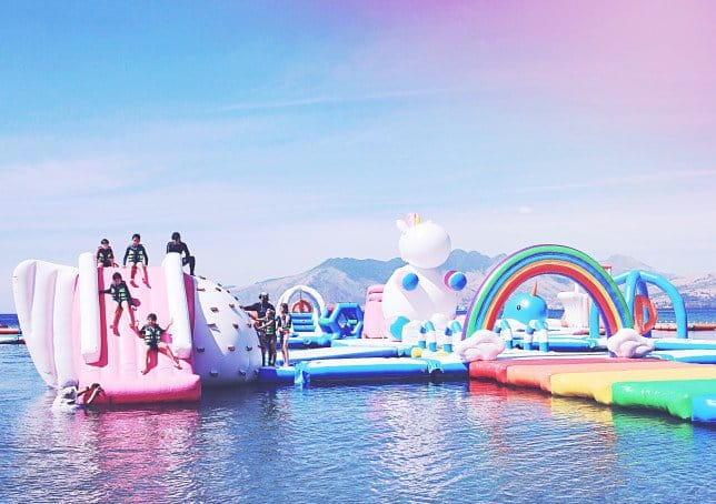 Cancel all your holiday plans - there's an inflatable unicorn island