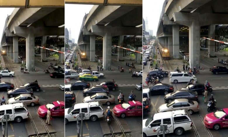 Clip of train caught in notorious Bangkok traffic goes viral. As graphic evidence of Bangkok's notorious traffic congestion, a Facebook user shot