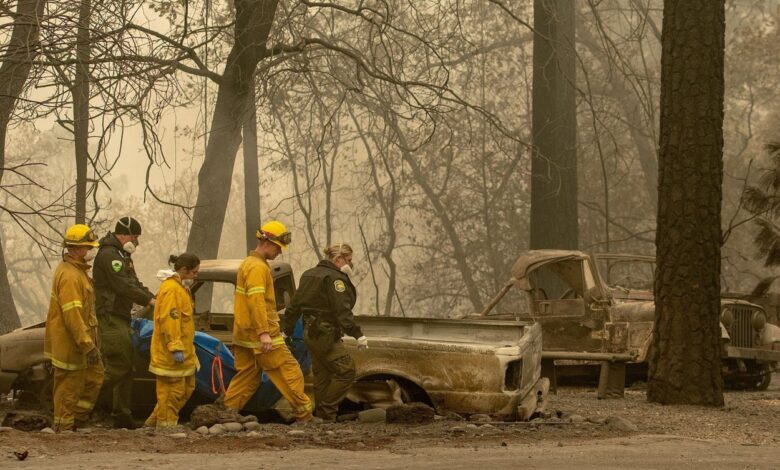 Death toll from California wildfires rises as 130 still missing. The toll in the deadliest wildfires in recent California history climbed to 59 on Wednesday
