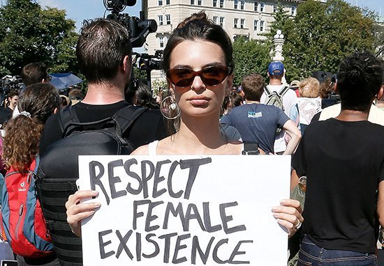 Emily Ratajkowski Responds After Being Trolled For Going Braless At Protest