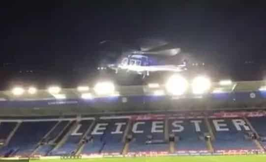 Video: Horrifying new footage shows moment Leicester owner's helicopter leaves stadium before plummeting to the ground in fatal crash