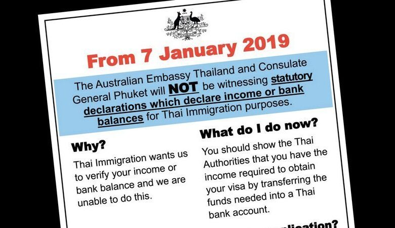 Income statement letters from embassies no longer required, confirms Phuket Immigration. Phuket Immigration Deputy Chief Lt Col Archeep Jaroensuntisuk