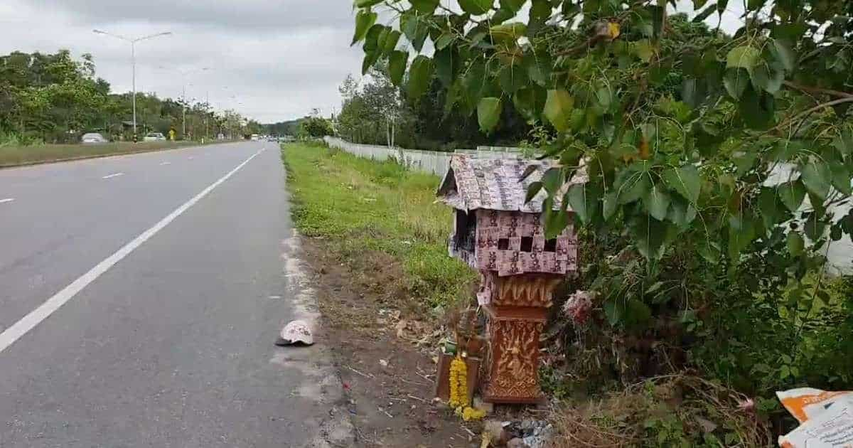 Lottery spirit Gamo abducted in Rayong along with shrine and tree