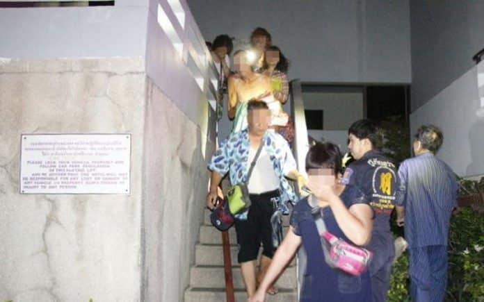 MORE THAN 300 GUESTS FLED FROM THEIR PATTAYA HOTEL ROOMS WHEN FIRE BROKE OUT IN THE MIDDLE OF THE NIGHT