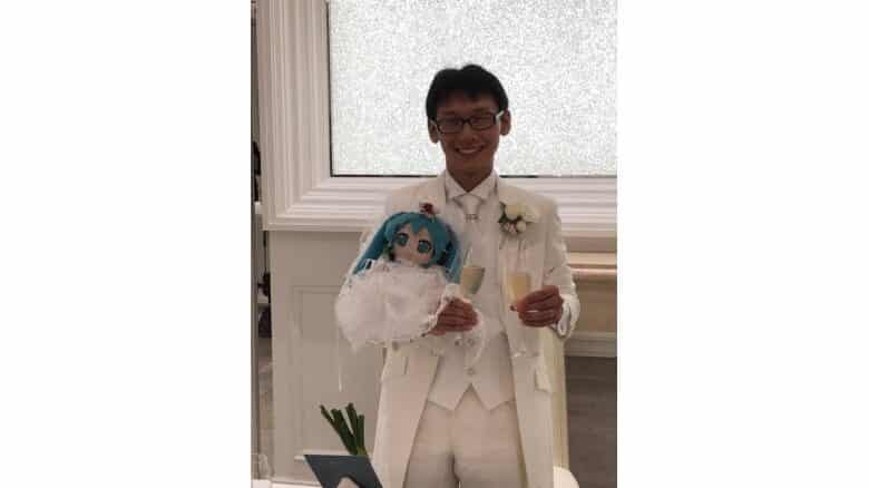 Man marries doll version of vocaloid Hatsune Miku. A 35-year-old man from Japan tied the knot with a doll in the likeness of virtual star Hatsune Miku.