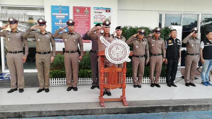 """Pattaya Police hold """"show of unity"""" for Loy Krathong weekend"""