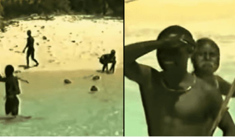 Rare Footage Shows How Isolated Sentinelese Tribe React To