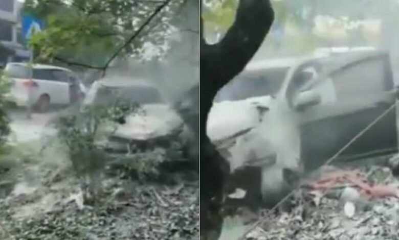 Seven dead in southwest China as car drives onto sidewalk. A car drove onto a sidewalk in southwest China on Tuesday, killing seven people