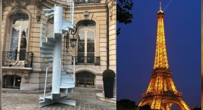 Stairs from Eiffel Tower sell for 169,000 euros. A section of stairs from the Eiffel Tower in Paris sold for almost 170,000 euros on Tuesday, auctioneers