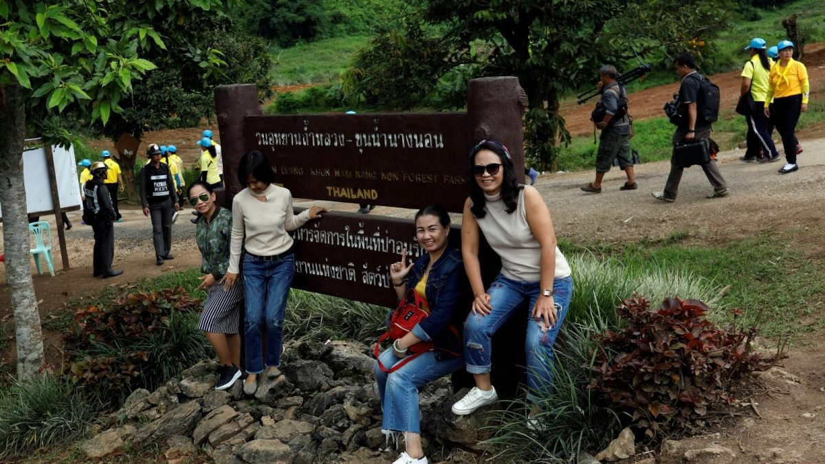 THE SITE OF THE THAILAND CAVE RESCUE IS NOW A BOOMING TOURIST ATTRACTION