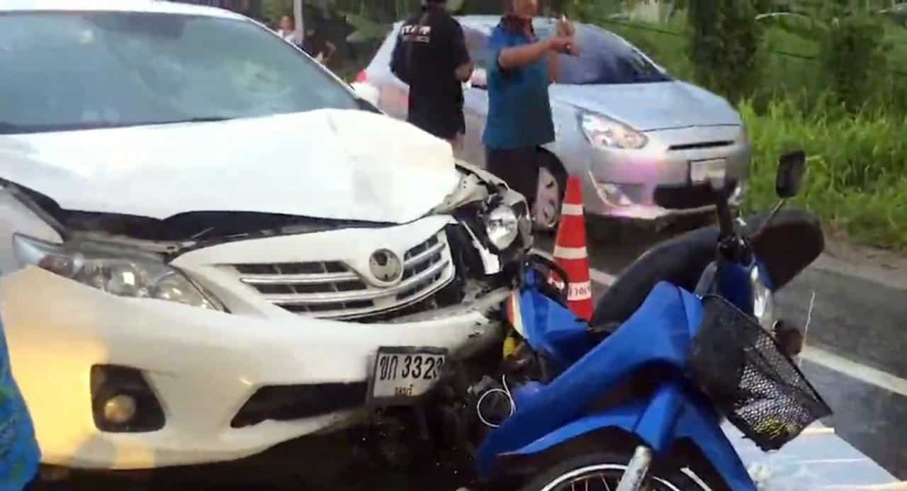 Teacher charged in fatal Chon Buri accident. A teacher has been charged after his car hit a motorcycle, killing a 15-year-old girl and injuring