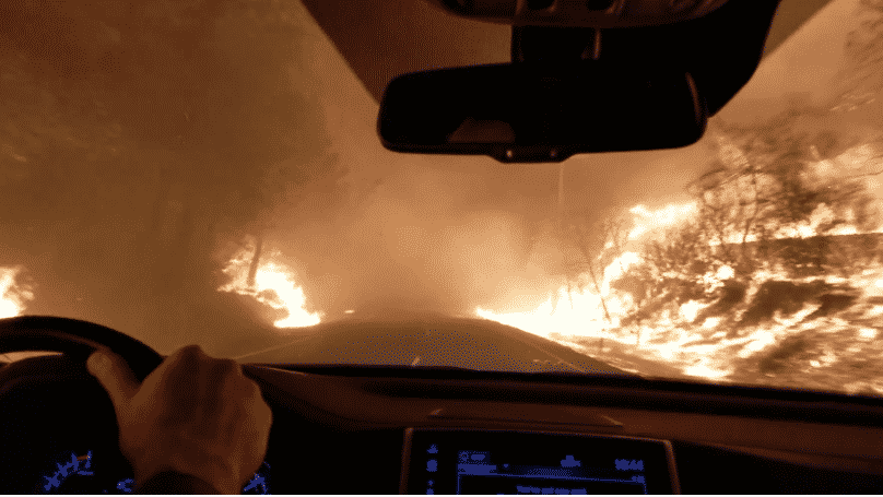Terrifying Video Shows People Fleeing Raging California Wildfires