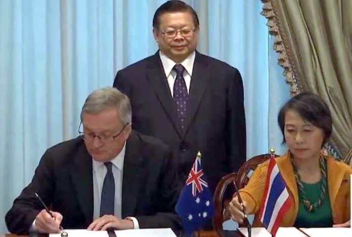 Thailand, Australia sign anti-human trafficking agreement. The Thai and Australian governments have signed a Memorandum of Understanding (MOU) on