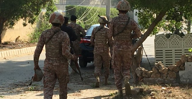 Two killed as gunmen attack Chinese consulate in Pakistan's Karachi. At least two policemen were killed when unidentified gunmen stormed the Chinese