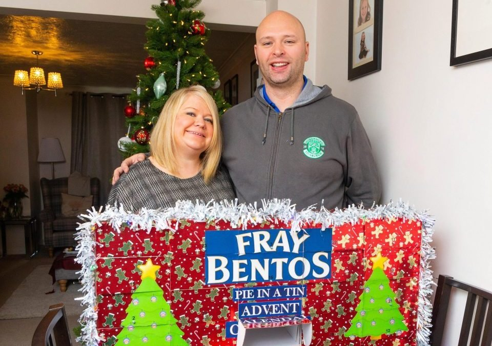 A FRAY IN A MANGER! Boyfriend built advent calendar for partner with 26 Fray Bentos pies