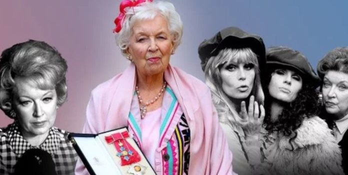 Absolutely Fabulous star Dame June Whitfield dies aged 93. Dame June Whitfield has died at the age of 93.Her agent confirmed that she passed