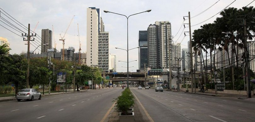Bangkok turns into ghost town for the holidays. Once or twice a year, many major roads in Bangkok will be unusually quiet and empty as you see in these