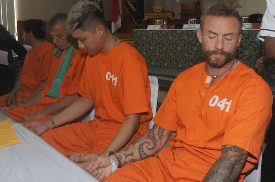 British artist facing 15 years in Bali jail. A British man facing 15 years in a Bali jail has admitted that smuggling in liquid cannabis 'to help with his.