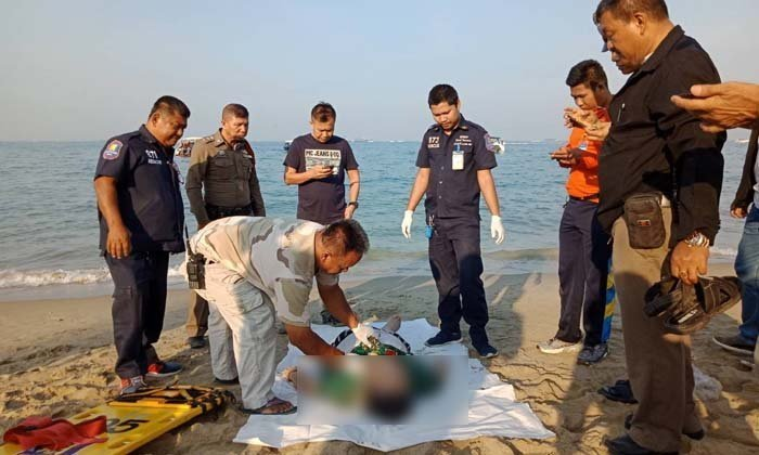 Dead tourist is washed up on Pattaya Beach