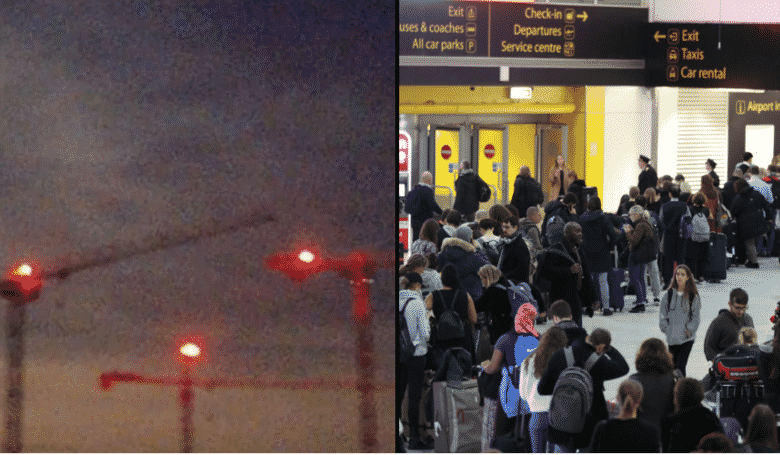 'Drone Sighting' Investigated By Police Turns Out To Be Lights On A Crane. There was chaos at London Gatwick Airport when a 'drone' caused hundreds