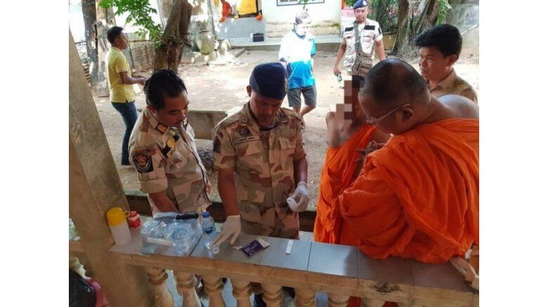 Eight Phuket monks defrocked after testing positive for drugs.