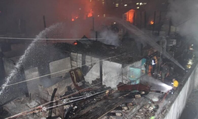 Firefighters hospitalised after blaze rips through old Bangkok community. Five firefighters were injured while battling a fire that swept through an old