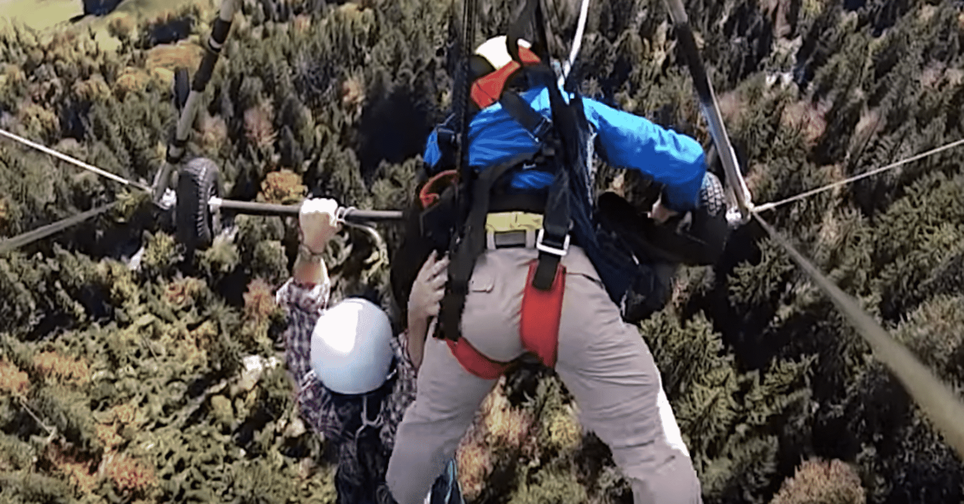 First-Time Hang Glider Hangs On For Dear Life Without Safety Harness
