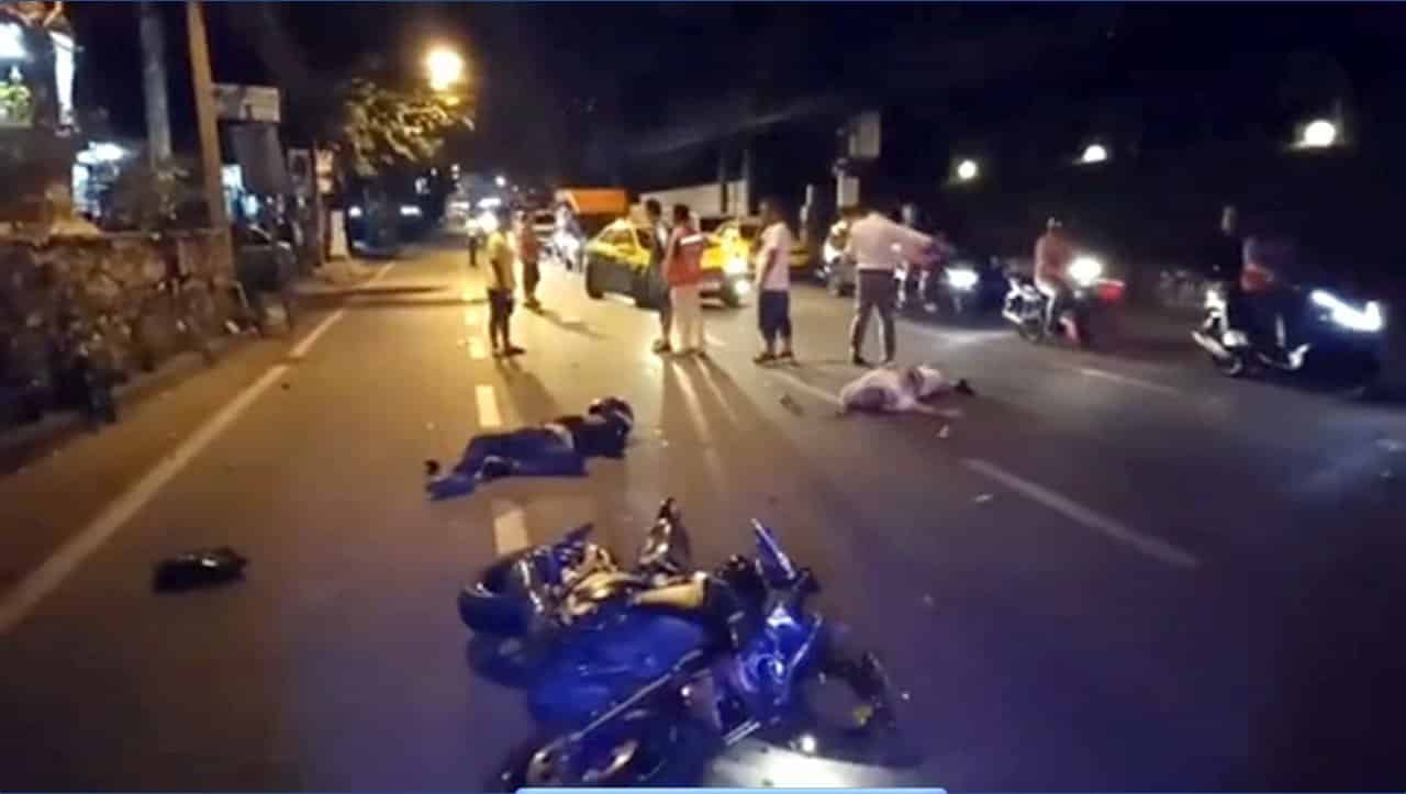 Foreign tourist badly injured by big bike in Pattaya. An unidentified foreign tourist was injured when he was hit by a large motorcycle while walking