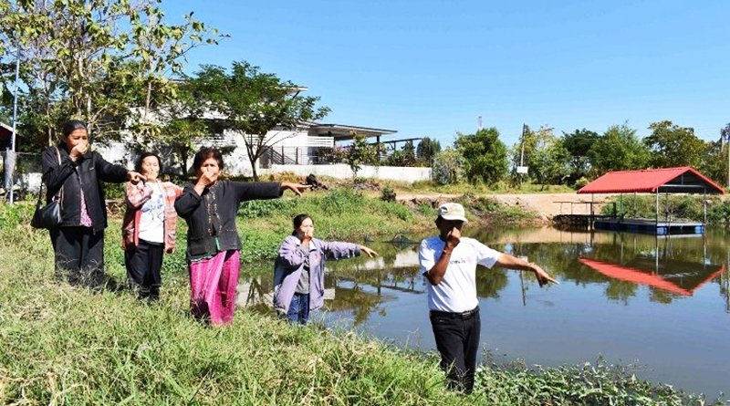 Hotel dumping wastewater into the main water source, Kalasin city.