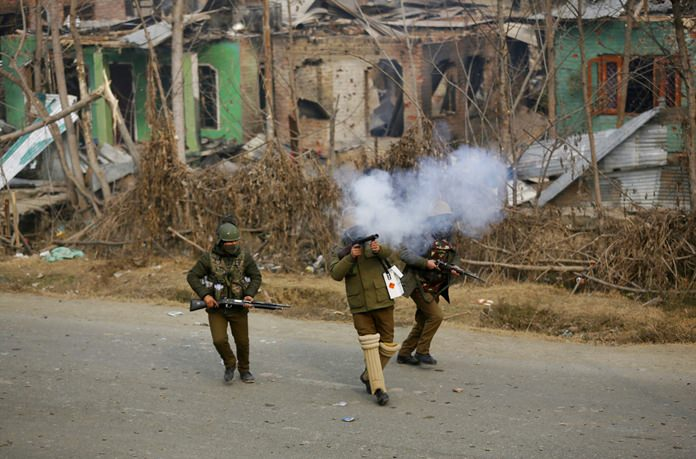 Indian troops kill 3 rebels in 18-hour-long Kashmir fighting. Indian troops killed three rebels on the outskirts of disputed Kashmir's main city on Sunday