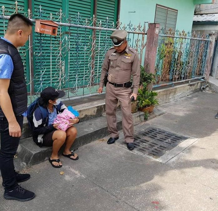 Laos woman on overstay caught begging in Pattaya with newborn child