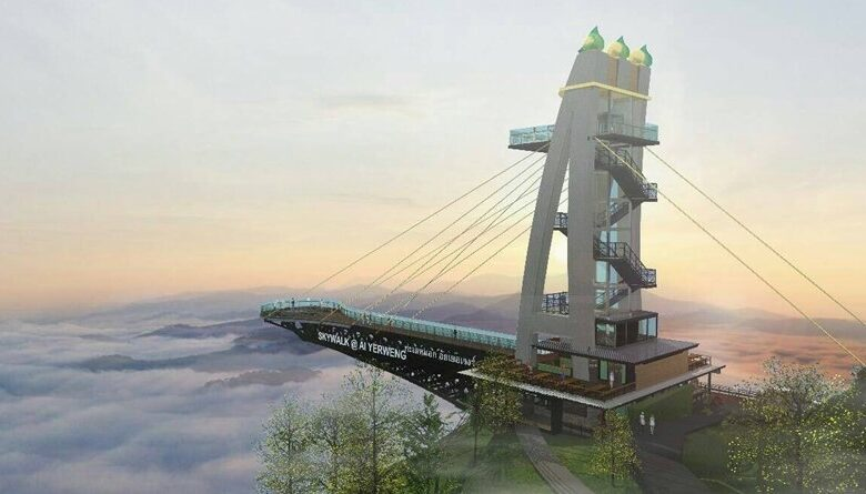 Longest Skywalk in Asia to be built in Southern Thailand. A new global attraction is to be built in Betong, Yala province. This is a skywalk that will take