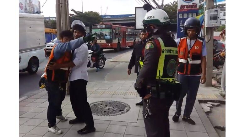 MOTO-CABBIE CHARGED FOR ALLEGEDLY HITTING, PULLING