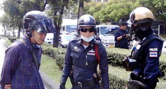 Men of Discipline – The Thai Police Force. Thai police officers have been banned from wearing sunglasses while performing their duties because