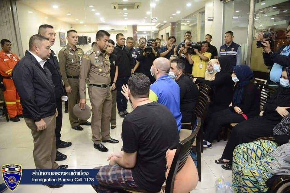 """Palestinians arrested in Bangkok - Immigration say some acting as """"Nana Mafia"""". The Immigration Bureau website has announced the arrest of 27 Palestinians."""