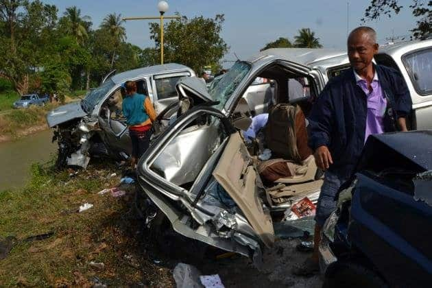 """Road death toll rises to 98 on first two days of New Year holiday clampdown. The death toll from road accidents in the first two days of the """"Seven"""