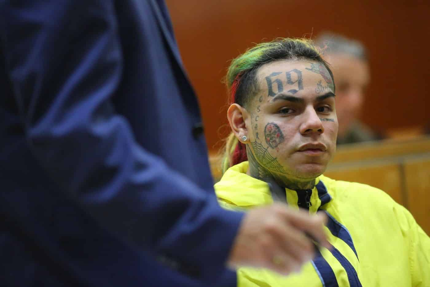 "Tekashi 6ix9ine Denied Bail Says Inmates Told Him They Had A ""Stiffy Uh"" Fears He Won't Be Sleeping Alone. Tekashi 6ix9ine has reportedly been denied bail"