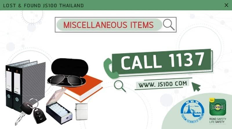 Top 5 items forgotten on Thai taxis. This information was gathered by JS100 Lost & Found, they are a part of JS100 that accept lost and found cases