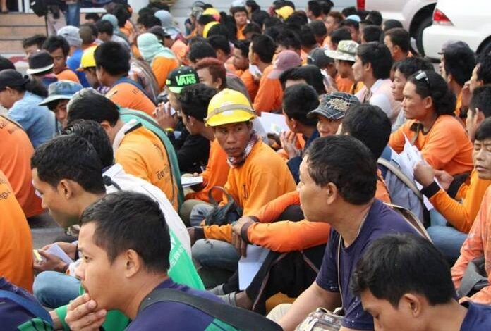 136 Cambodians discovered without work permits arrested in early morning construction site raid. At 6 AM yesterday morning immigration and police officials