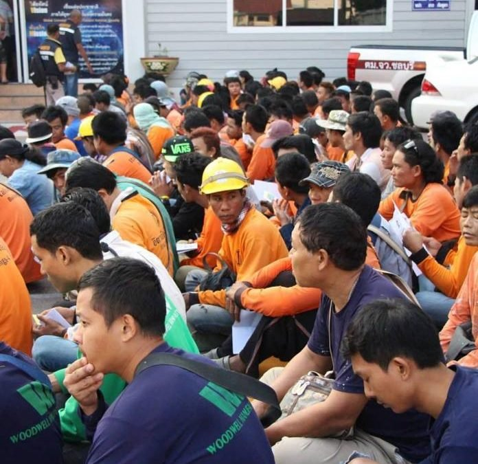 136 Cambodians discovered without work permits arrested in early morning construction site raid