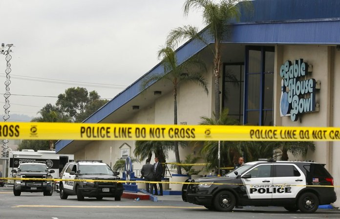 3 killed, 4 injured in California bowling alley shooting. Three men were fatally shot late Friday and four injured when a brawl at a popular Los