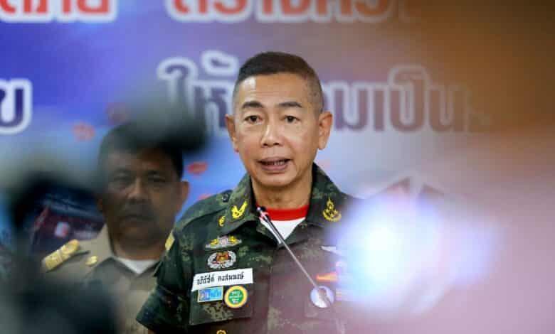 Army chief takes aim at drug smuggling through couriers. The Thai Army chief is seeking cooperation from courier service providers to prevent drug