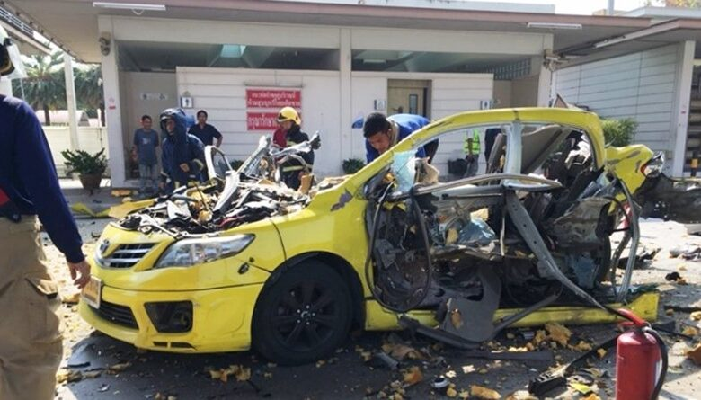 Cabbie hurt in NGV gas explosion. A taxi driver was seriously injured this afternoon (January 14, 2019) by an NGV gas explosion in Bangplee