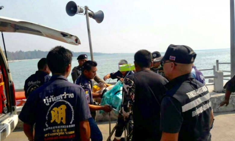 Chinese tourist drowns in Koh Samet. A 58-year-old Chinese tourist, who was battered by waves in the sea off Koh Samet's Haad Sai Kaew