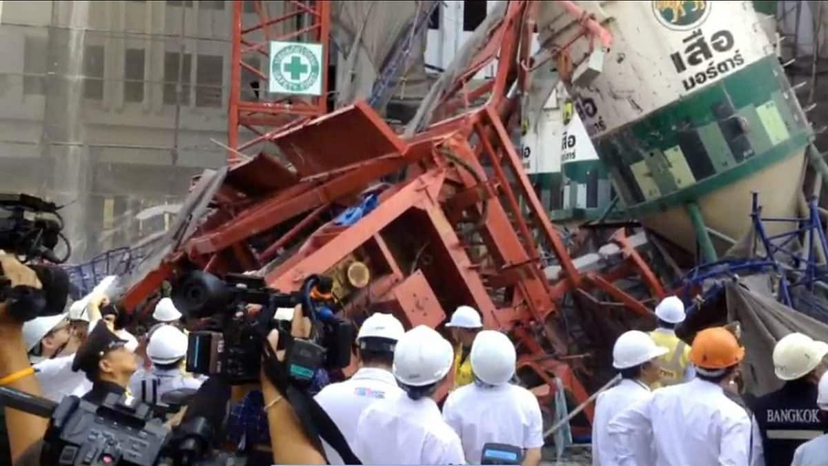 Engineers inspect deadly Bangkok crane collapse site