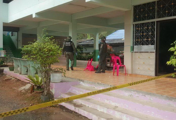 FOUR SOLDIERS SHOT DEAD ON PATTANI SCHOOL CAMPUS. Four paramilitary officers were shot dead inside a Pattani province school, not far from
