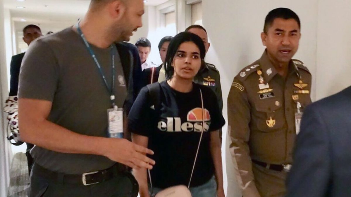 Father, brother of Saudi teen flying to Thailand