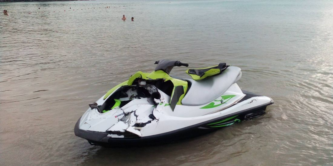 Four Russian tourists fined after Phuket jet-ski accident. Four Russian tourists have been fined following an offshore jet-ski accident at Kata Noi Beach.