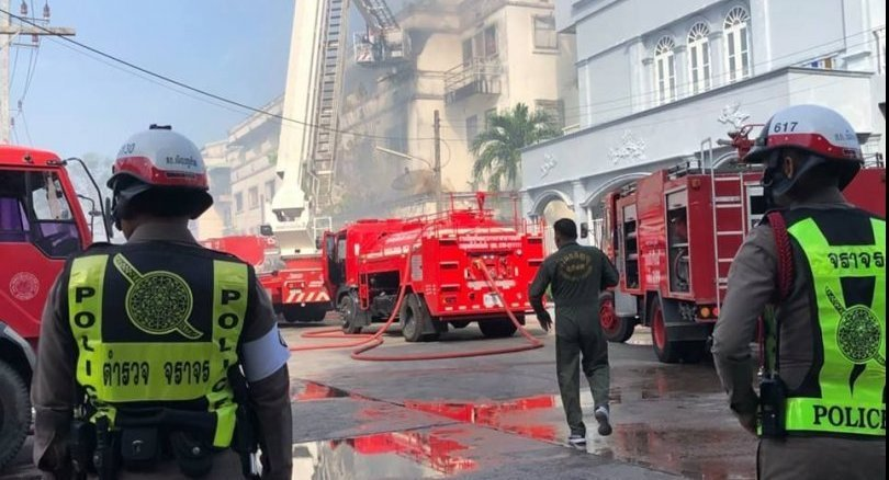 Furniture shop gutted by fire in Phuket